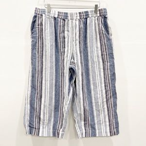 BeachLunchLounge Margot Linen Stripe Pants Rope XL
